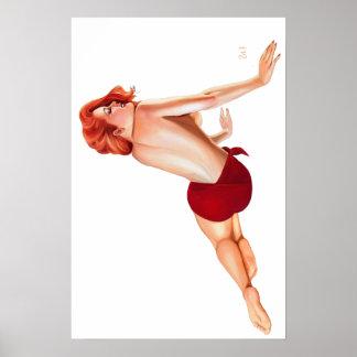Del vintage del Pin poster para arriba - Póster
