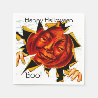Del vintage JOL de las ojeadas fiesta de Halloween Servilletas Desechables