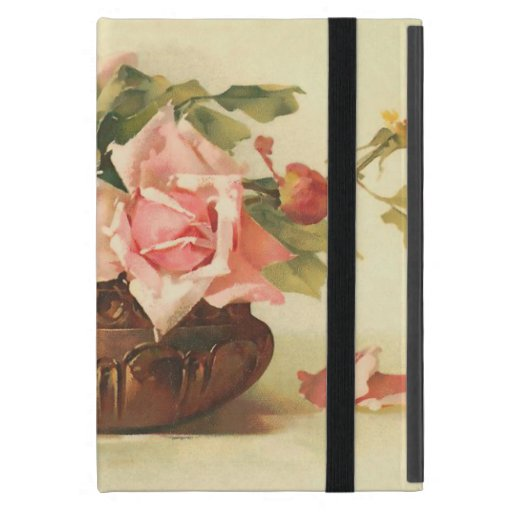 Del vintage todavía de los rosas vida rosada iPad mini cárcasa