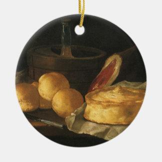 Del vintage todavía del Barroco vida con el pan t Ornamento Para Arbol De Navidad