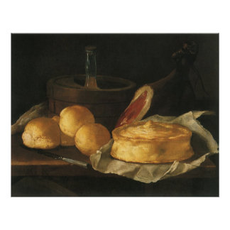 Del vintage todavía del Barroco vida con el pan t Impresiones