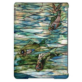 Del vitral de Pescado-Tiffany-Desnudo aire del Funda Para iPad Air
