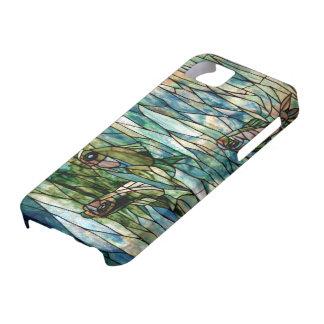 Del vitral de Pescado-Tiffany-Desnudo iPhone 5/5 iPhone 5 Funda