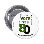 Del voto medida 80 de Oregon sí Pin Redondo 5 Cm