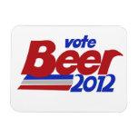 Del voto parodia política de la cerveza 2012 fot iman de vinilo