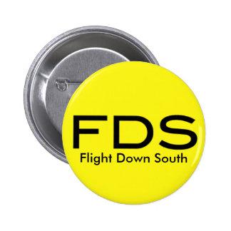 Del vuelo botón amarillo del sur abajo pin