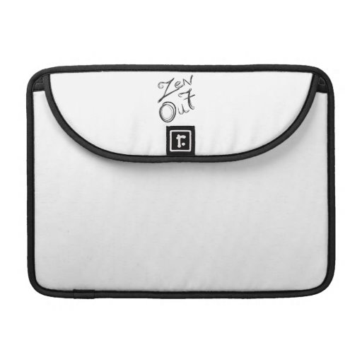 Del zen manga de la aleta de Macbook hacia fuera Fundas Para Macbooks