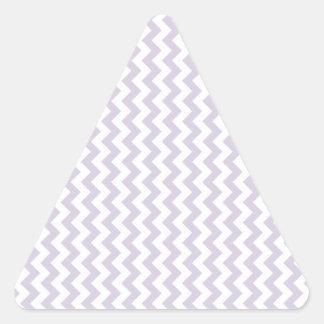 Del zigzag lavanda blanca y lánguida de par en par pegatina triangular