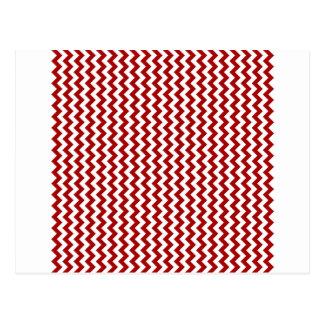 Del zigzag rojo blanco y oscuro de par en par - de tarjeta postal