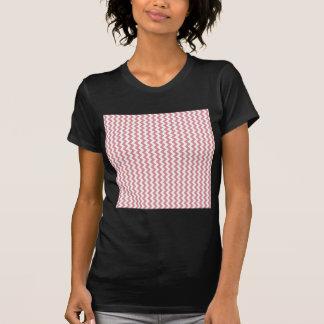 Del zigzag rosa blanco y rubicundo de par en par - camiseta
