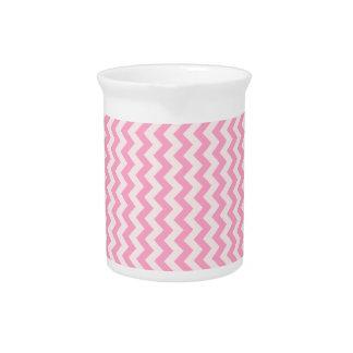 Del zigzag rosa de par en par - palidezca - y rosa jarron