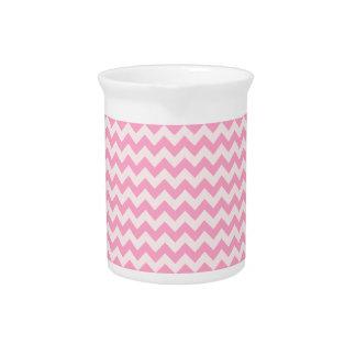 Del zigzag rosa horizontal de par en par - palidez jarra para bebida