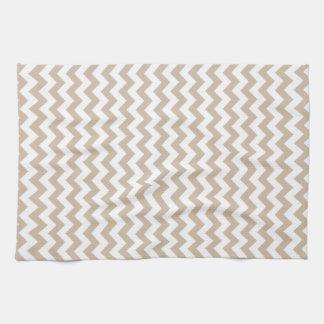 Del zigzag vainilla blanca y oscura de par en par  toalla