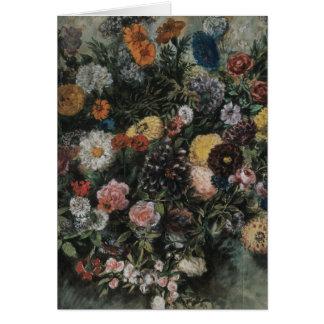 Delacroix Boquet de flores Tarjeta De Felicitación