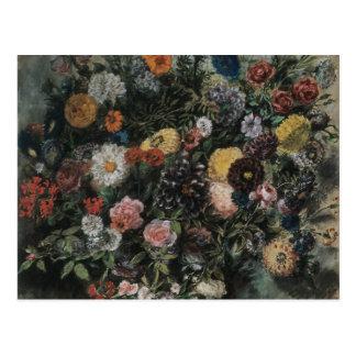 Delacroix Boquet Of Flowers Postcard