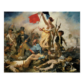 Delacroix Lady Victory leading the way to victory Poster
