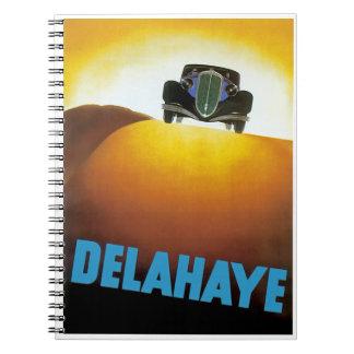 Delahay Automobile Ad Notebook