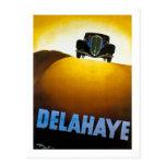Delahaye - anuncio del vintage postales