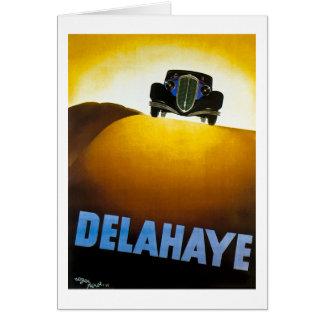 Delahaye - anuncio del vintage tarjeta de felicitación
