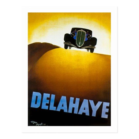 Delahaye - anuncio del vintage tarjetas postales