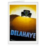 Delahaye - anuncio del vintage tarjeton