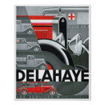 Delahaye Automobile Ad Vintage Art Poster