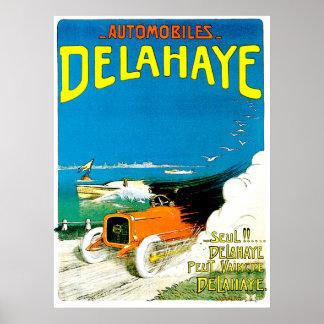 Delahaye car advertisement. poster