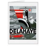 Delahaye ~ Vintage Automobile Advertisement Stationery Note Card