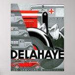 Delahaye ~ Vintage Automobile Advertisement Poster
