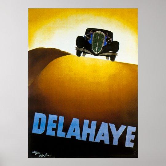 Delahaye - Vintage Car Advertisement Poster
