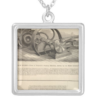 Delamater Iron Works Silver Plated Necklace