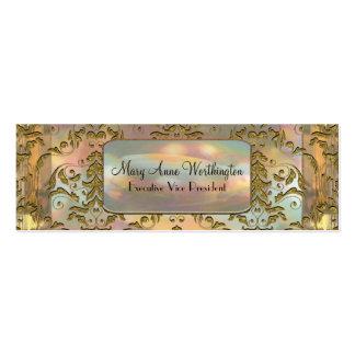 Delancey Astor  Elegant  Professional Skinny Business Card Template
