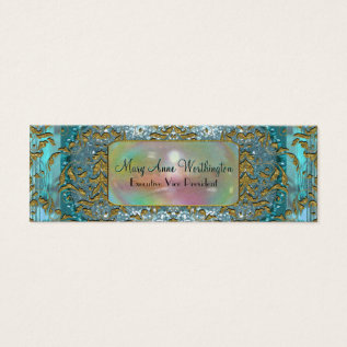 Delancey By The Sea Elegant  Professional Skinny Mini Business Card at Zazzle