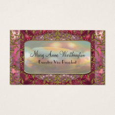 Delancey Petal Elegant  Professional Business Card at Zazzle