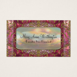 Delancey Petal Elegant  Professional Business Card at Zazzle