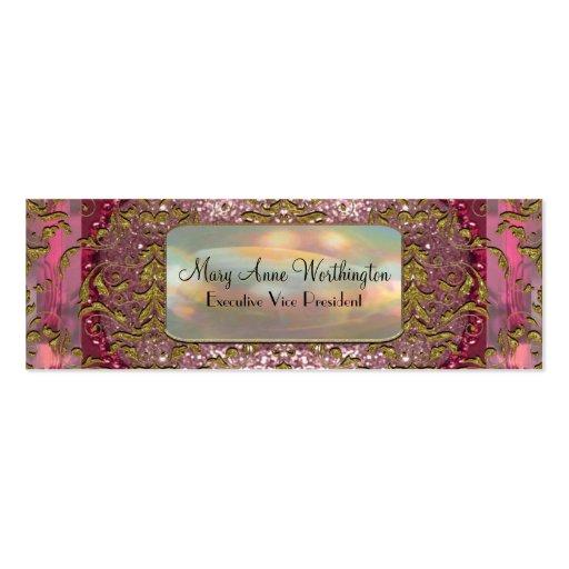 Delancey Petal  Elegant  Professional Skinny Business Card