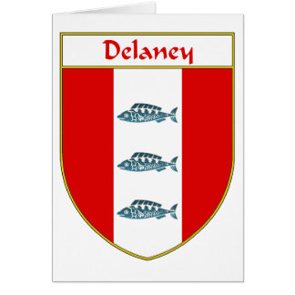 Delaney Coat of Arms/Family Crest Card