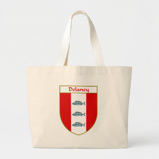 Delaney Coat of Arms/Family Crest Large Tote Bag