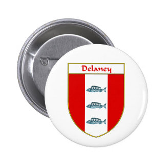 Delaney Coat of Arms/Family Crest Pinback Button