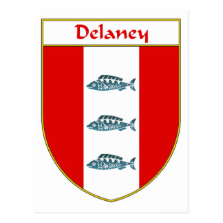 Delaney Coat of Arms/Family Crest Postcard