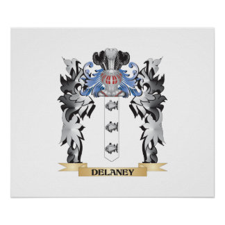 Delaney Coat of Arms - Family Crest Poster