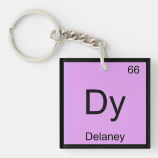 Delaney Name Chemistry Element Periodic Table Keychain