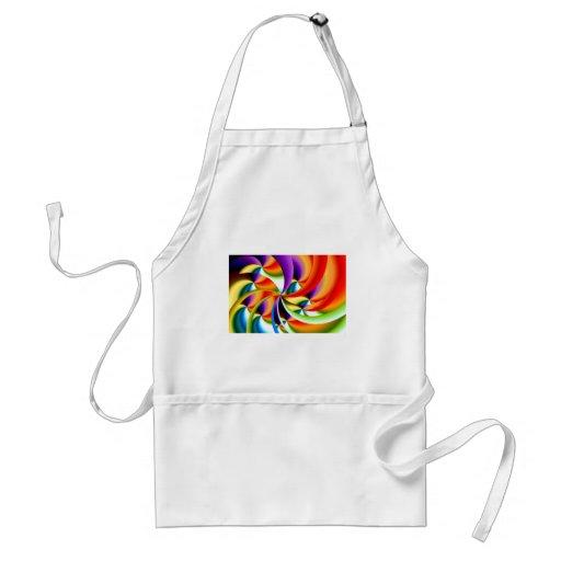 Delantal abstracto colorido del diseño