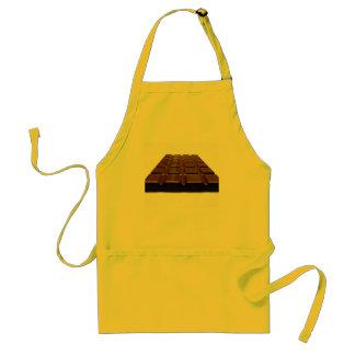 Delantal amarillo del chocolate