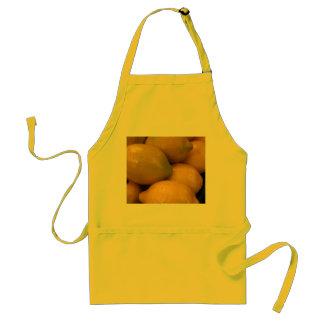 Delantal amarillo limón de la cocina