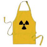 Delantal amonestador del logotipo de la radiación