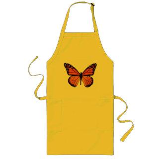 Delantal anaranjado de la mariposa