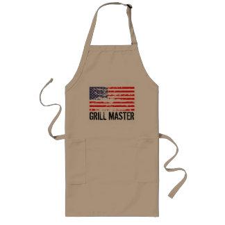 Delantal apenado el | Grill Master del Bbq de la