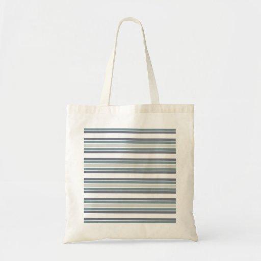 Delantal azul/gris de la raya bolsa tela barata