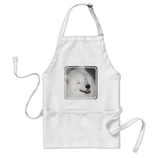 Delantal blanco del perro esquimal